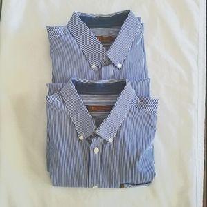 Ben Sherman Dress Shirts Stripe Large 2 shirts